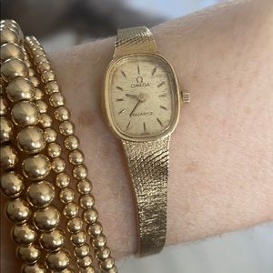 Solid gold omega watch
